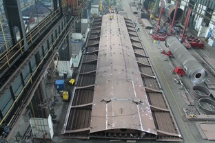 News : Pre-installation of part of a bridge
